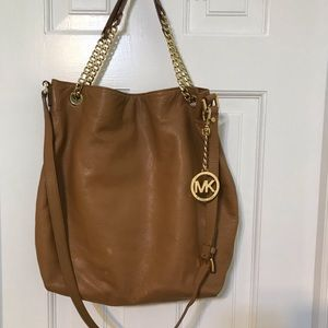 Michael Kors Tan pebbled purse- Offers Welcome!